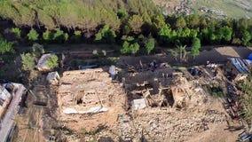 Terremoto de Nepal almacen de metraje de vídeo