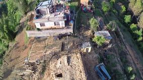 Terremoto de Nepal almacen de video