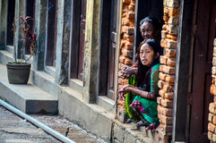 Terremoto de Nepal Foto de Stock