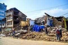 Terremoto de Nepal Foto de archivo