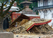 Terremoto de Nepal em Kathmandu Fotografia de Stock