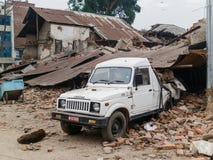 Terremoto de Nepal en Katmandu Foto de archivo