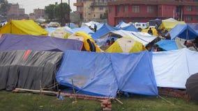 Terremoto de Nepal en Katmandu almacen de metraje de vídeo