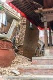 Terremoto de Nepal en Katmandu Fotos de archivo libres de regalías