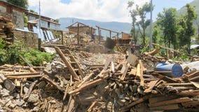 Terremoto del Nepal fotografie stock libere da diritti