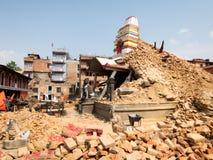 Terremoto del Nepal Fotografia Stock Libera da Diritti