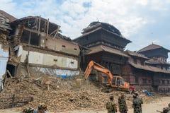 Terremoto del Nepal a Kathmandu Fotografia Stock Libera da Diritti