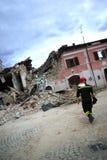 Terremoto dell'Italia immagini stock libere da diritti
