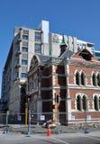 Terremoto di Christchurch - alloggiamenti delle biblioteche Immagine Stock