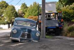 Terremoto di Christchurch - automobile nella liquefazione Immagine Stock Libera da Diritti