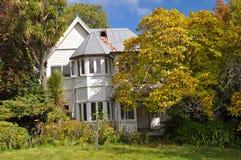 Terremoto di Christchurch - Camera di legno del vicolo Fotografia Stock