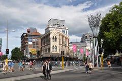 Terremoto di Christchurch - commercio come di consueto Immagine Stock Libera da Diritti