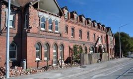 Terremoto di Christchurch - convento della via delle Barbados Fotografia Stock Libera da Diritti