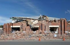 Terremoto di Christchurch - la fabbrica del mattone distrugg Fotografie Stock