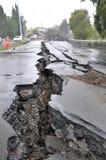 Terremoto di Christchurch - ponticello del viale di Fitzgerald Immagini Stock