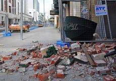 Terremoto di Christchurch - via di Hereford Fotografie Stock
