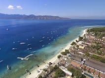 Terremoto di Lombok in Gili Trawangan fotografia stock