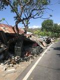 Terremoto di Lombok in Senggigi Immagini Stock