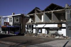 Terremoto el 4 de septiembre de 2010 de Christchurch Fotos de archivo