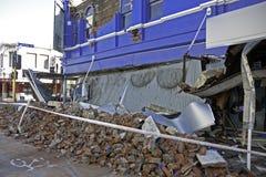 Terremoto el 4 de septiembre de 2010 de Christchurch Imagen de archivo