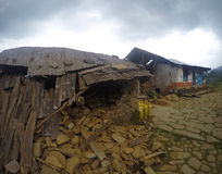 Terremoto em Nepal, em abril de 2015 Imagem de Stock