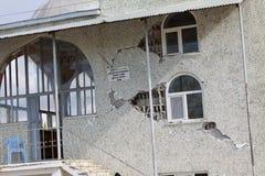 Terremoto en la aldea de Gollu en Van. Fotos de archivo