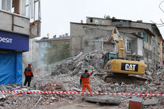 Terremoto in Ercis, Van. fotografia stock libera da diritti