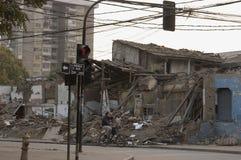 Terremoto no Chile, 2010 fevereiro 27 foto de stock