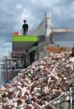 Terremoto Riccarton, Nuova Zelanda di Christchurch Immagini Stock Libere da Diritti