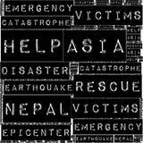 Terremoto Tremore de Nepal Fotos de Stock Royalty Free