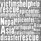 Terremoto Tremore de Nepal Fotografia de Stock Royalty Free