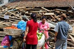 Terremotos de Nepal Fotos de Stock