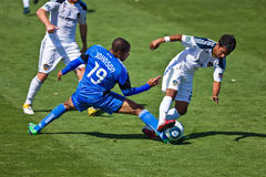 Terremotos del juego de fútbol contra galaxia del LA Fotografía de archivo