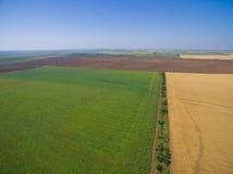 Terreni agricoli da bird& x27; volo di s Immagini Stock Libere da Diritti