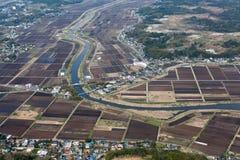 Terreni agricoli nel Giappone Fotografia Stock Libera da Diritti
