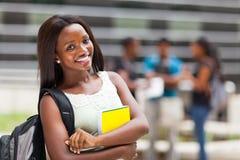 Terreno africano do estudante Fotos de Stock