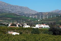 Terreno agricolo, Andalusia, Spagna. Fotografie Stock Libere da Diritti