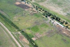 Terreno agricolo nocivo da agricoltura aggressiva Fotografia Stock Libera da Diritti