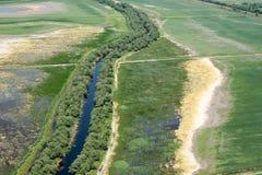 Terreno agricolo nocivo da agricoltura aggressiva Immagini Stock