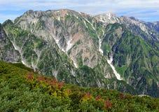 Terreno alpino delle alpi del Nord nel Giappone Immagine Stock Libera da Diritti