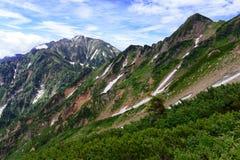 Terreno alpino delle alpi del Nord nel Giappone Fotografie Stock