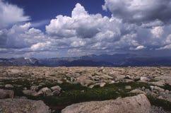 Terreno alpino in montagne rocciose del Colorado Fotografia Stock Libera da Diritti