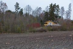 Terreno arabile e foresta immagini stock libere da diritti