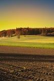 Terreno arabile e pascoli in Svizzera Immagine Stock