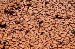 Terreno argilloso rosso Fotografia Stock Libera da Diritti