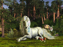 Terreno boscoso magico illustrazione vettoriale