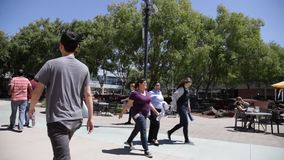Terreno Califórnia de Googleplex vídeos de arquivo