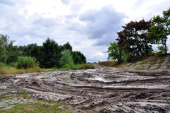 Terreno campo a través, natural de la suciedad Imagen de archivo