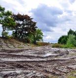 Terreno campo a través, natural de la suciedad Imágenes de archivo libres de regalías