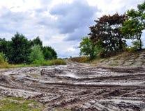 Terreno campo a través, natural de la suciedad Foto de archivo libre de regalías